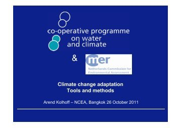 Climate change adaptation Tools and methods - AECEN