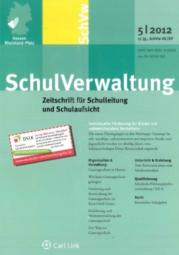 Zeitschrift für Schulleitung und Schulaufsicht, Hessen