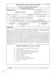 UNIVERSIDAD TECNOLÓGICA NACIONAL U6 - FRBB - UTN