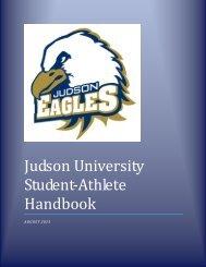 Student-Athlete Handbook - Judson University Athletics