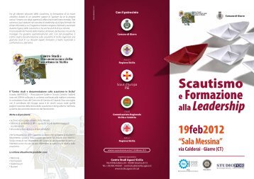 Scautismo e Formazione alla Leadership - Scienze della Formazione