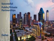 Successful Public/Private Partnerships Dallas - City of Dallas