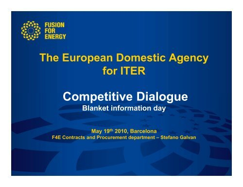 Competitive Dialogue - Iter Industry