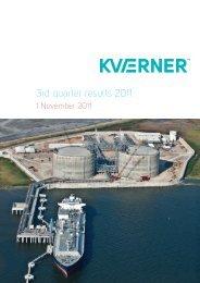3rd quarter results 2011 report - Kvaerner
