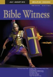 The Whole Armour of God - Bible Witness Media Ministry
