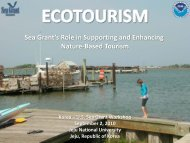 Sea Grant's Role in Supporting and Enhancing Nature-Based Tourism