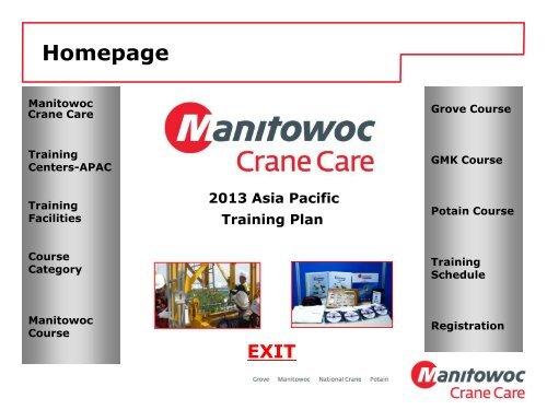 2013 Asia Pacific Course Catalog - Training - Manitowoc Cranes