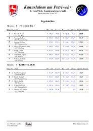 Ergebnisliste 2.lauf Landesmeisterschaft - RSV Braunschweig