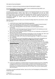 Stellungnahme zur Beschlußvorlage der Drucksache 92a - BI-Knoten