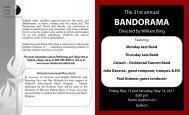 31st Annual Bandorama Program (2011) - Caltech-Occidental Bands