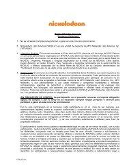 """Reglas Oficiales Concurso """"Concurso Victorious ... - Mundonick.com"""