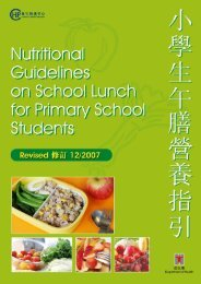 Nutritional Guidelines on School Lunch for primary school students