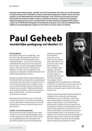 Paul Geheeb - Exemplarisch onderwijs