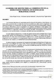 UN MODELO DE GESTiÓN PARA LA CONSERVACiÓN DE LA ...