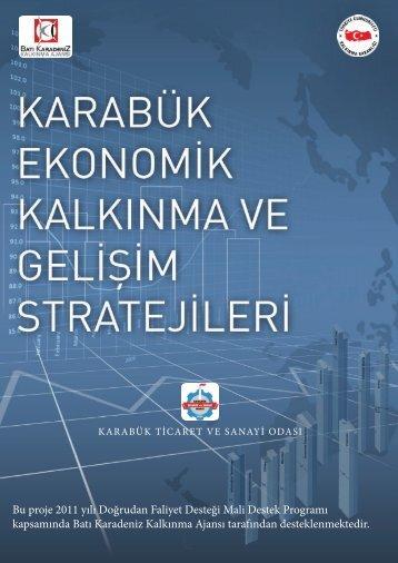 Karabük İli Ekonomik Kalkınma Strateji Analizi - Batı Karadeniz ...
