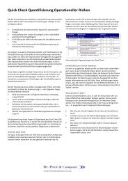 Quick Check Quantifizierung Operationeller Risiken - Dr. Peter ...