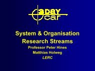 Value Stream Mapping & 3DayCar Research Approach