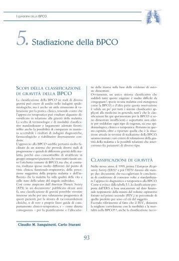 5.Stadiazione della BPCO - Clinica malattie apparato respiratorio