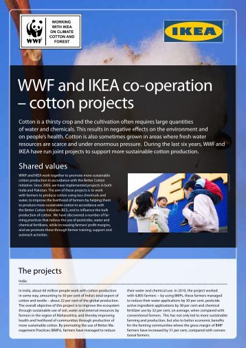 WWF and IKEA co-operation – cotton projects - Global Hand