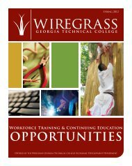OPPORTUNITIES - Wiregrass Georgia Technical College
