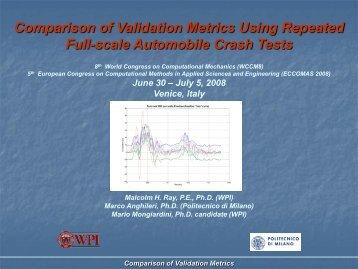 Attachment D: Comparison of Validation Metrics - Roadsafe LLC