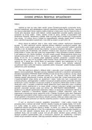 Výroční zpráva společnosti za rok 2002 - Český Krumlov