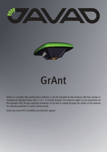 GrAnt is a versatile high performance antenna. It can be mounted on ...