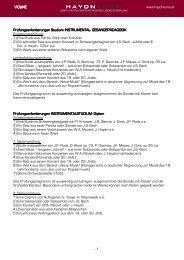Violine - Joseph Haydn Konservatorium