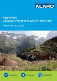 References Wastewater treatment system technology - KLARO GmbH
