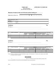 FORM 201C APPENDIX TO FORM 201 - Commercial Tax