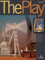 The Play, Spring 2012 Issue - Chesapeake Energy