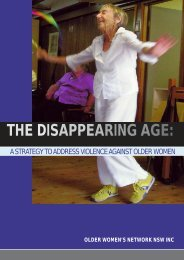 The Disappearing Age.pmd - Older Women's Network