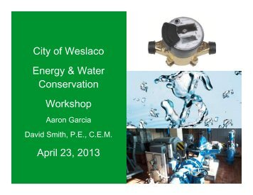 3. Energy Conservation Report - City of Weslaco