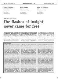 The flashes of insight never came for free - Nieuw Archief voor ...