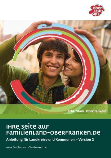 Anleitung für Landkreise und Kommunen - Familienland Oberfranken