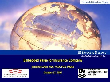 Embedded Value in Insurance