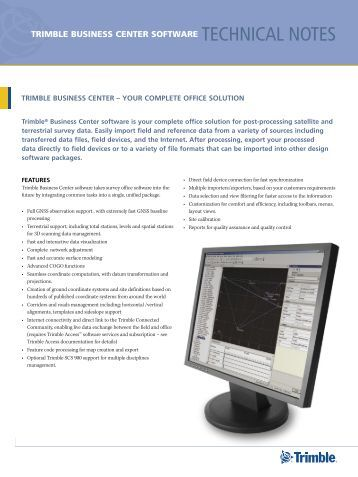 trimble business center user guide