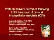 Preterm Delivery Outcomes Following Leep Treatment of Cervical ...