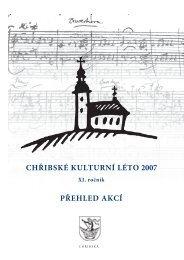 přehled akcí chřibské kulturní léto 2007 - České Švýcarsko