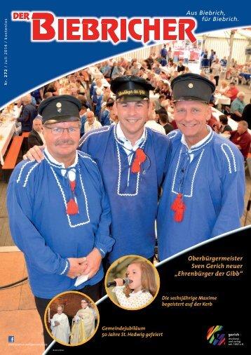 DER BIEBRICHER, Ausgabe 272, Juli 2014