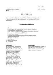 Protokoll der 425. Sitzung - Agrar Bürs
