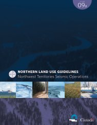 Northern Land Use Guidelines: Northwest Territories Seismic ...