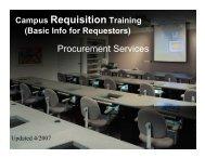 Campus Requisition Training