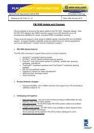 PLM PRODUCT INFORMATION - New Holland PLM Portal