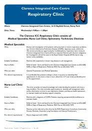 Respiratory Clinic - Tasmania Medicare Local