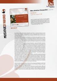 Consulter le livret (pdf) - Harmonia Mundi