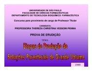 PROVA DE ERUDIÇÃO 1999 - Faculdade de Ciências Farmacêuticas