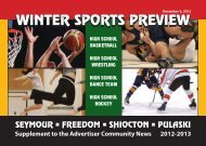 Winter Sports Preview 2012 - Advertiser Community News