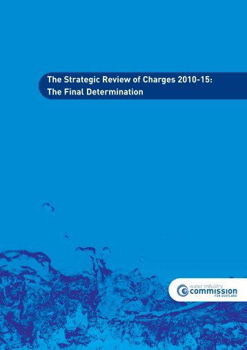 Final Determination 09 - Water Industry Commission for Scotland