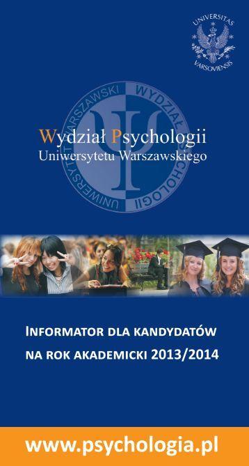 Informator dla kadydatów na rok akademicki 2013/2014 (PDF)